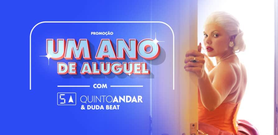 Em promoção com Duda Beat, QuintoAndar vai sortear Um Ano de Aluguel grátis